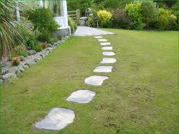Step over lawn!